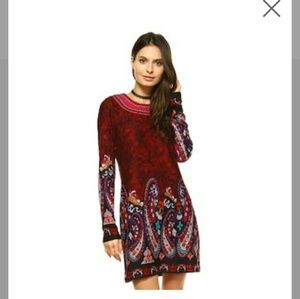Women's Paisley Embroidered Sweaterdress